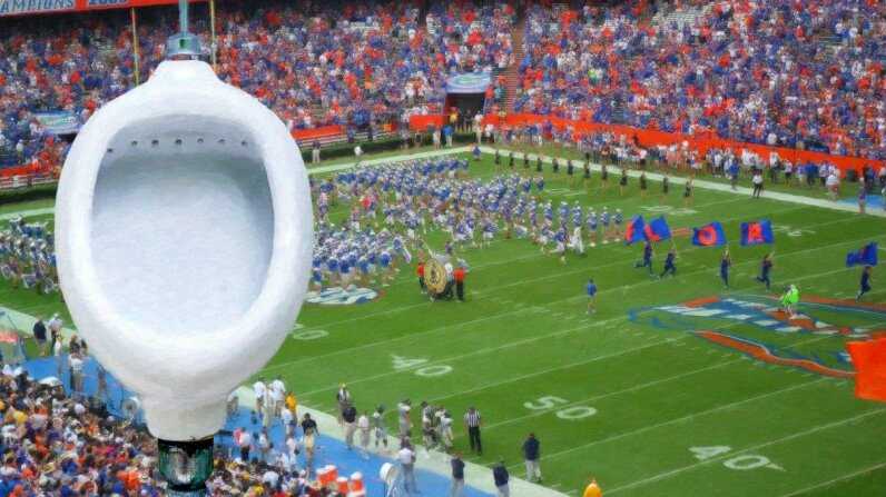 Researchers at the University of Florida calculated that nutrients from stadium-goers' urine could fertilize the field. Tortoon/Thinkstock/antciardello/Flick