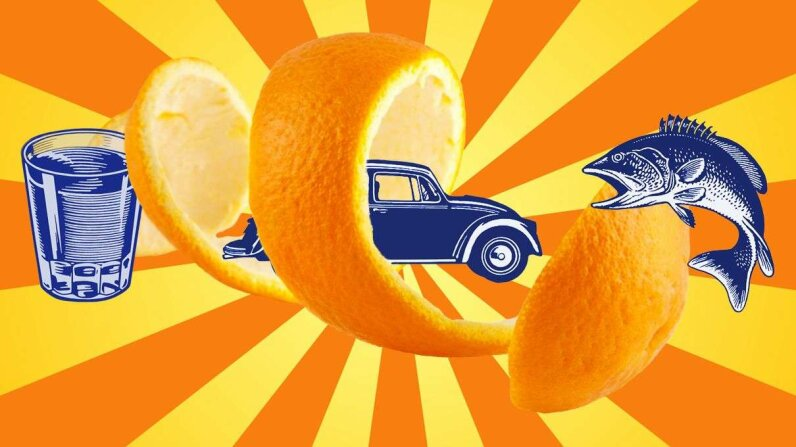 Orange peel can be used as biofuel, a mercury absorbent  and of course, a nice addition to a beverage. VVZann/Dariusz Majgier/CSA-Archive/Getty Images  2015 HowStuffWorks