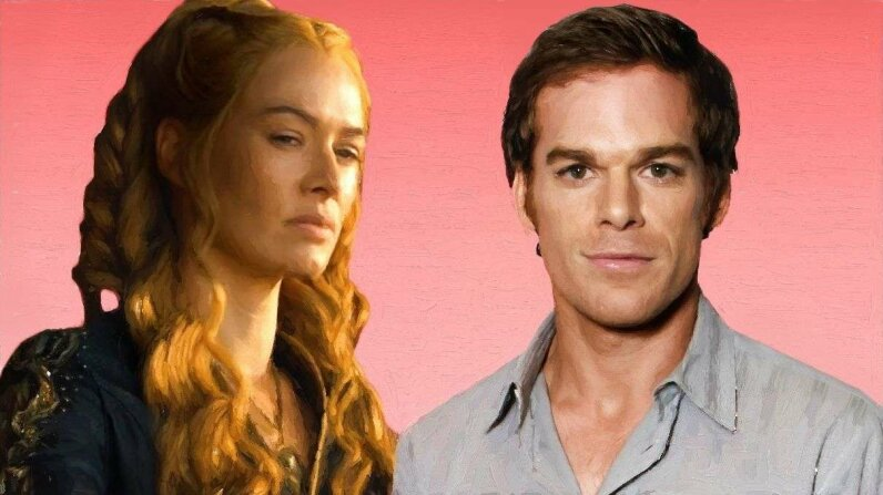 """Cersei Lannister from HBO's """"Game of Thrones"""" and Dexter from Showtime's """"Dexter"""" exemplify the antihero trend in modern TV. Eric Charbonneau/WireImage/HBO/Getty"""