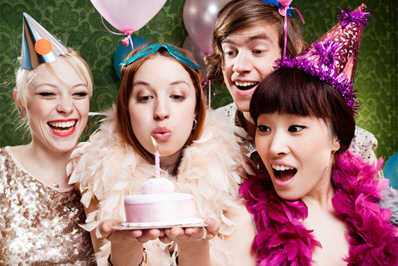 If no one else is volunteering, it's fine to throw your own birthday party. Just don't expect your guests to pay for it. Betsie Van Der Meer/Getty Images
