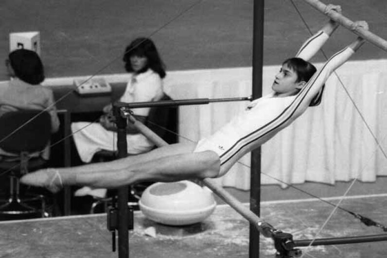 Romanian gymnast Nadia Comaneci was the star of the Montreal Olympics, as the first person to receive a perfect score of 10 in an Olympic gymnastic event. Frank Barratt/Getty Images