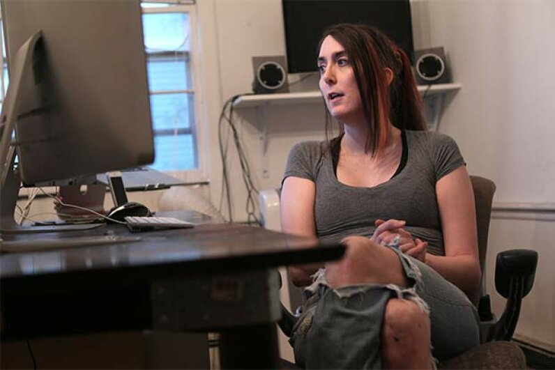 Brianna Wu, software engineer and founder of Giant Spacekat, which makes games with female protagonists, was targeted for abuse and death threats by the gaming community after posting online about the misogyny in the industry. Joanne Rathe/The Boston Globe via Getty Images