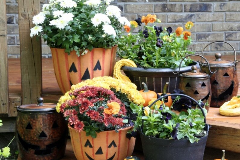 Decorating your container garden can be just as rewarding as growing the plants. ©iStockphoto/Thinkstock