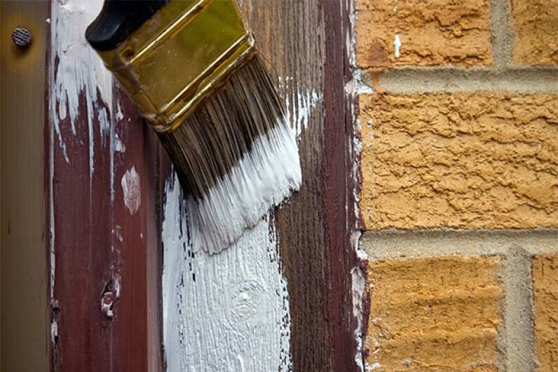 Primer seals in any remaining moisture and provides a smooth, clean surface so the topcoat of paint will stick like glue. Melinda Fawver/iStock/Thinkstock