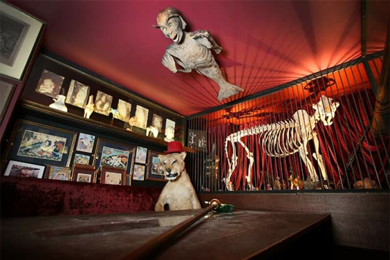 On the ceiling of the Viktor Wynd Museum of Curiosities, Fine Art & Natural History in London, is a Fijan Merman, which bears a strong resemblance to the Feejee Mermaid. Peter Macdiarmid/Getty Images