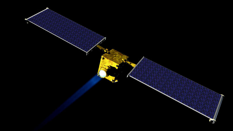 Pictured is an artist concept of NASA's Double Asteroid Redirection Test (DART) spacecraft. DART could be NASA's first mission to demonstrate an asteroid deflection technique for planetary defense. NASA/JHUAPL
