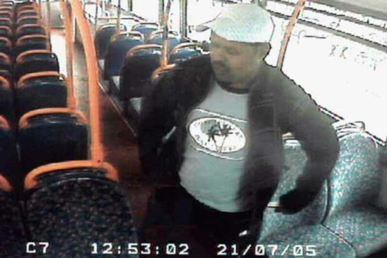 Back in 2005, Scotland Yard issued a CCTV image of Muktar Said Ibrahim on a London bus. He was wanted for questioning in connection with attacks on three tube trains and a bus on July 21, 2005. Scotland Yard via Getty Images