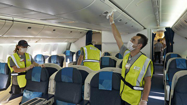 airline, cleaning