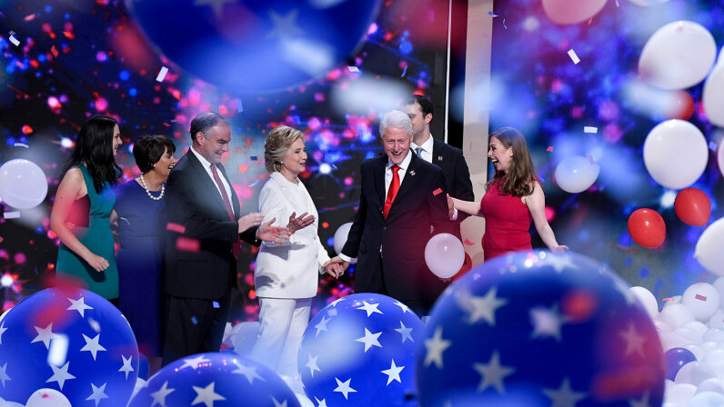 The Clintons and the Kaines, DNC