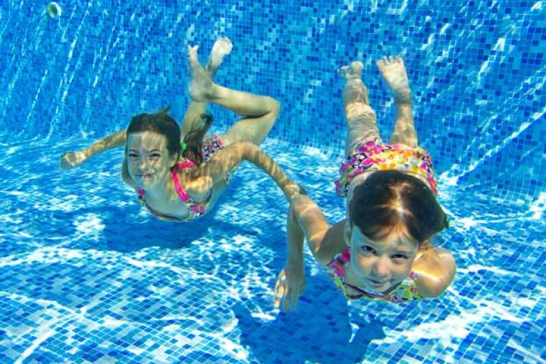 In the dolphin race you try to get to the other side of the pool while keeping your head underwater. iStockphoto/Thinkstock