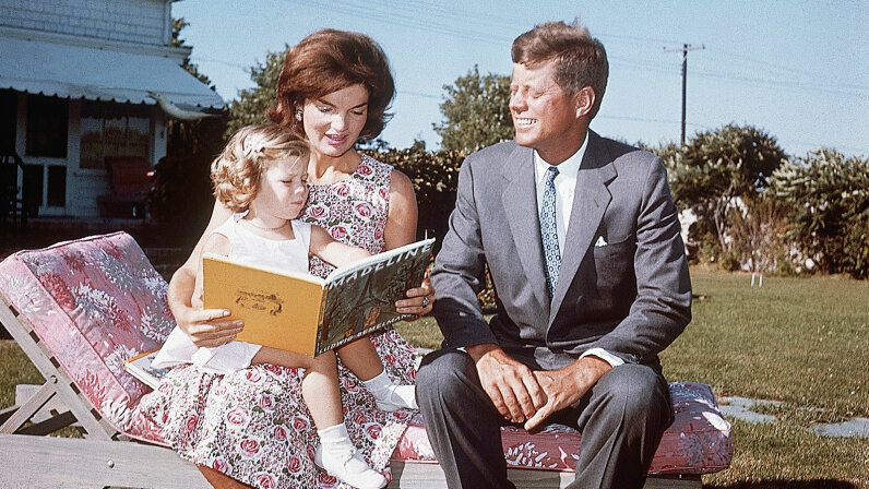 Jackie, John and Caroline Kennedy