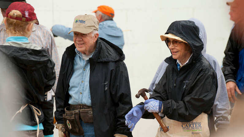 President Jimmy Carter and his wife Rosalynn, Habitat for Humanity