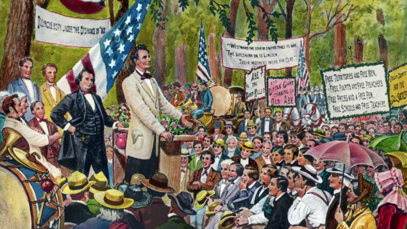Abraham Lincoln, Lincoln Douglas debate