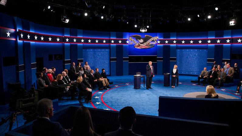 Trump, Clinton, 2016 debate