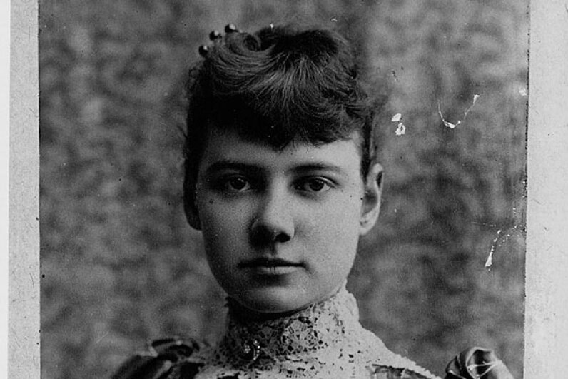 Journalist Nellie Bly was famous for her reporting on the mental hospital on Blackwell's Island, and also for a later journey to beat the 80-day trip around the world immortalized in the book by Jules Verne. Library of Congress/Corbis/VCG via Getty Images