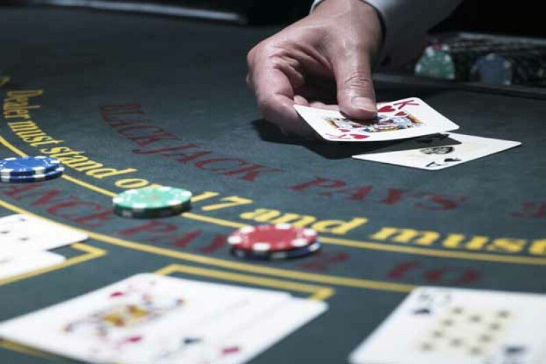 Blackjack is one the casino games you actually have an even chance of winning. John Howard/Digital Vision/Thinkstock