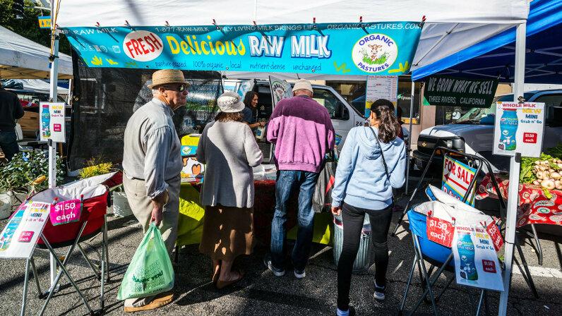 raw milk stand