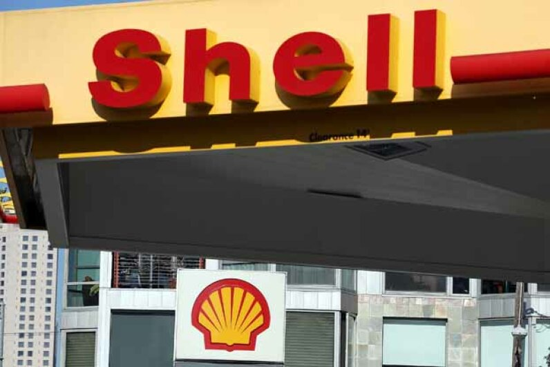 That shell logo is not just a symbol; it's a nod to the company's beginnings as a decorative shell importer. Justin Sullivan/Getty Images