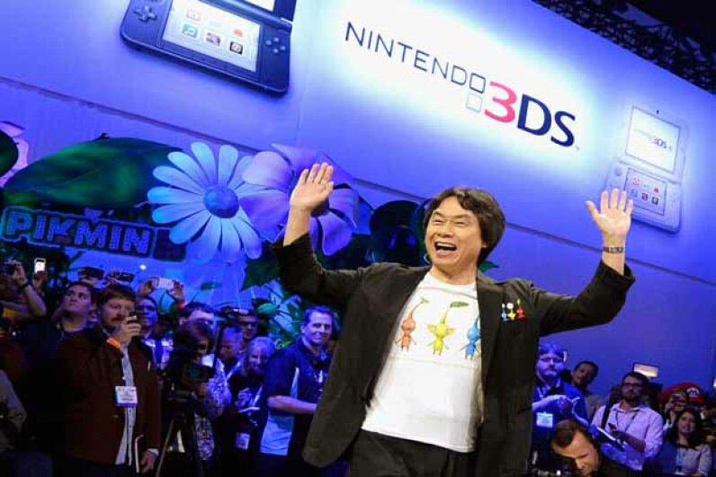 Legendary video game producer Shigeru Miyamoto kicks off Nintendo's showcase at the Electronic Entertainment Expo (E3) 2013 at the Los Angeles Convention Center. Nintendo started off selling playing cards. Kevork Djansezian/Getty Images