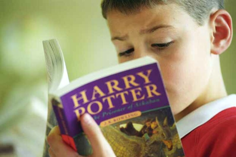 """The American Library Association says that the """"Harry Potter"""" series collectively is the most banned book of the 21st century. © Andrew Fox/Corbis"""