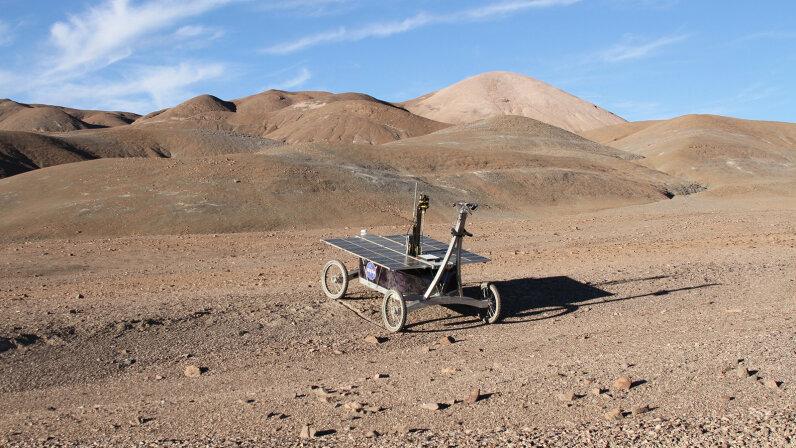 NASA rover in the Atacama Desert