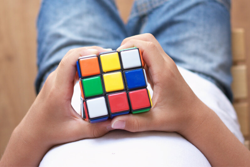 The iconic Rubik's Cube provides hours of entertainment – or frustration, depending on your outlook. Alexandra Jursova/Getty Images