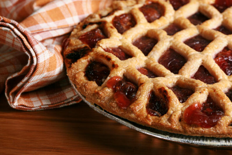 Who doesn't love pie? Whether you're bringing some or just indulging, it's a good idea to check on how many people will be sharing the dessert. ©iStockphoto.com/Sandy Jones