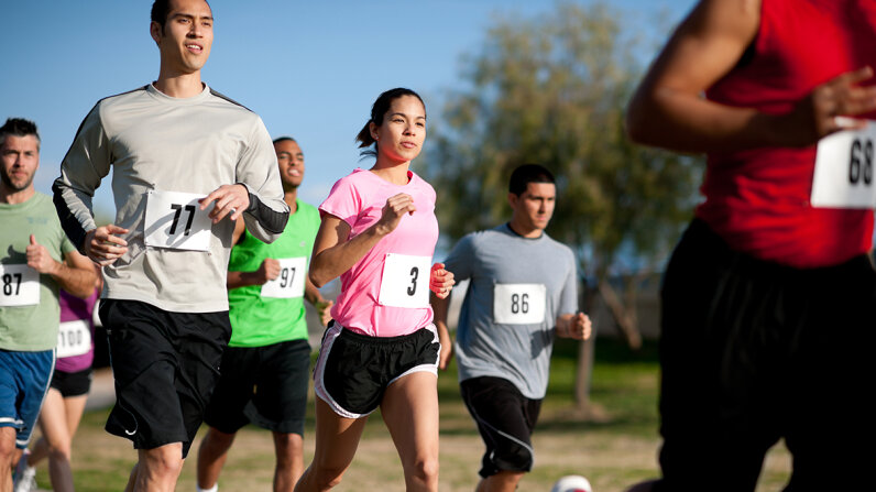 Over the last 20 years, race runners' finish times have been steadily getting slower. What's the deal? FatCamera/Vetta/Getty Images