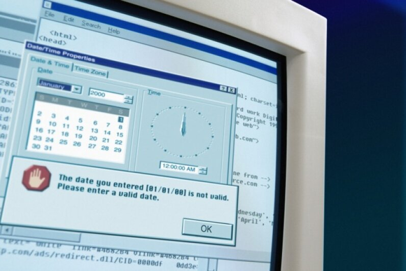 Perhaps more frightening than Y2K is the size of our old computer monitors. Photodisc/Getty Images