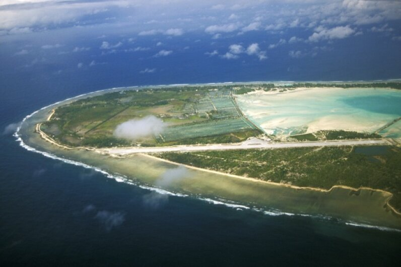 Pacific Island nation Kiribati is already making plans for rising sea levels. Travelgame/Getty Images