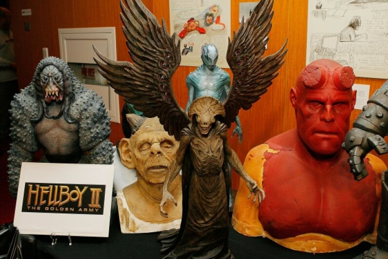 "A cornucopia of character models from the film ""Hellboy II: The Golden Army"" Vince Bucci/Getty Images"