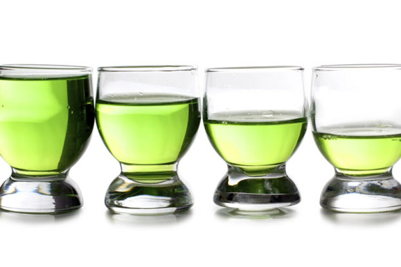 What's causing the liquid to disappear from these glasses? iStockphoto/Thinkstock