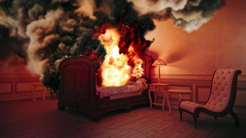 burning bed
