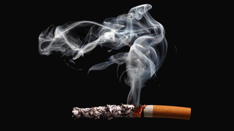cigarette with long ash