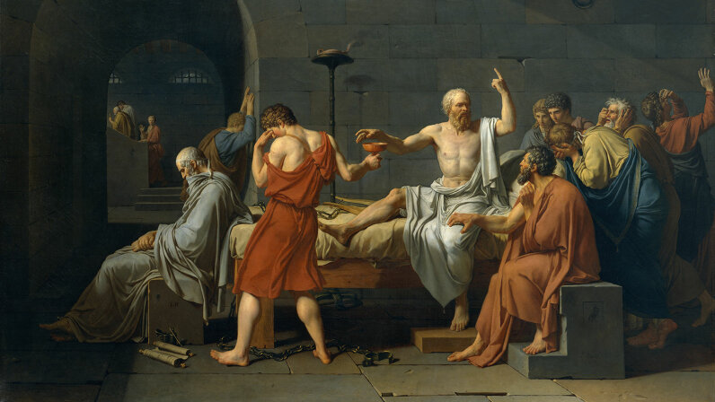 """The Death of Socrates"""