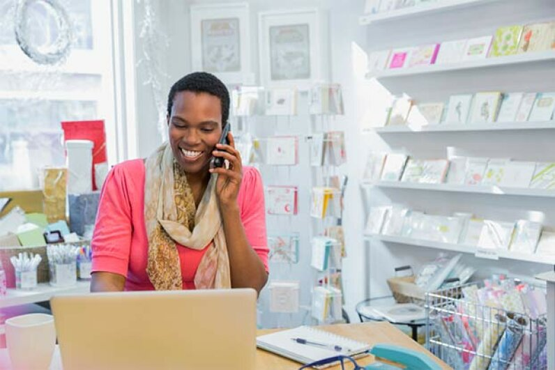 Taking care of any customer service issues promptly is as important in an online company as it is in a retail store. Hero Images/Getty Images