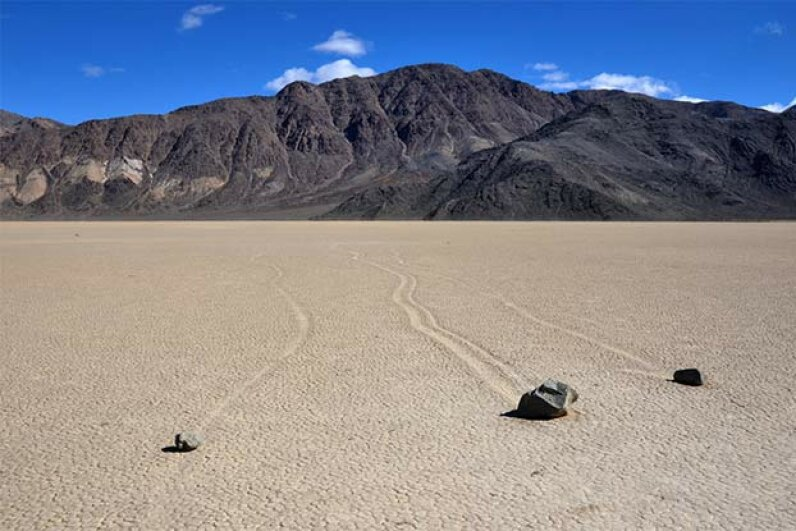 death valley sliding stones
