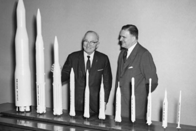 Were Harry S. Truman and NASA director James Webb part of a secret government agency called Majestic-12? Image courtesy NASA