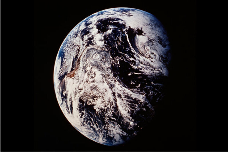 For decades, there was a whole society devoted to the idea that the Earth is flat. Photo courtesy NASA/Lewis Research Center