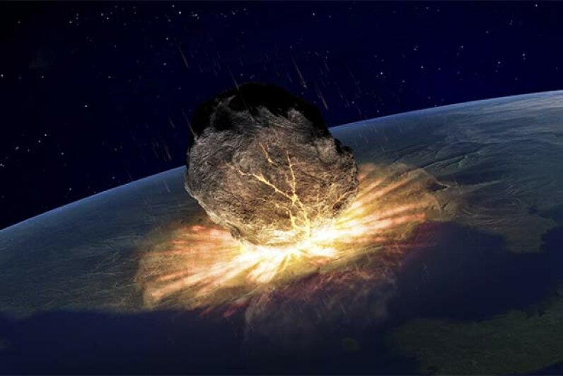 Once every 10,000 years or so an asteroid hits our planet. Shouldn't we be prepared? Andrzej Wojcicki/Getty Images