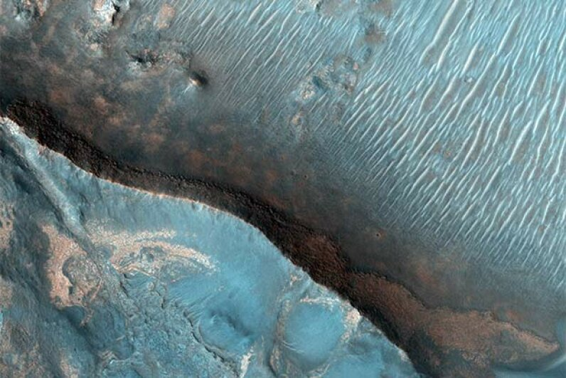 The Nili Fossae region of Mars is one of the largest exposures of clay minerals discovered by the OMEGA spectrometer on the Mars Express mission. Universal History Archive/UIG via Getty Images