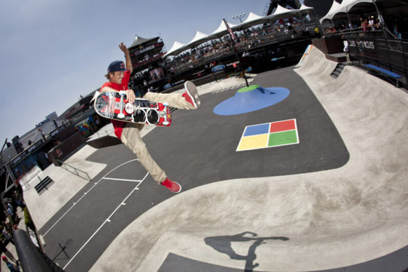 Ryan Sheckler skates during the Skateboard Street Finals at the X Games.  Some of his more stylin' moves could be considered illegal if done on a public roadway. See more pictures of extreme sports. Christian Pondella/Getty Images