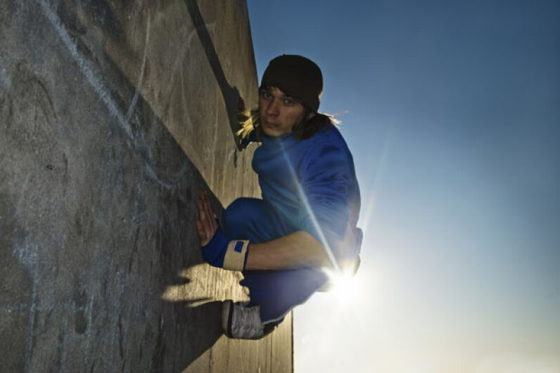 Parkour itself is not illegal, but if you practice on private property, you can get cited, fined, or even arrested for trespassing. iStockphoto/Thinkstock