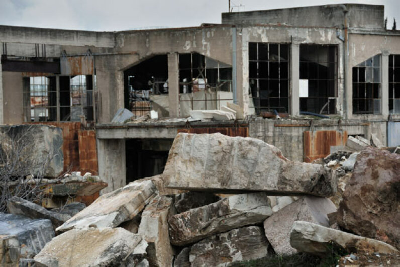 Can you get into trouble for checking out buildings like this abandoned marble factory? iStockphoto/Thinkstock