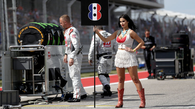 Formula One grid girls