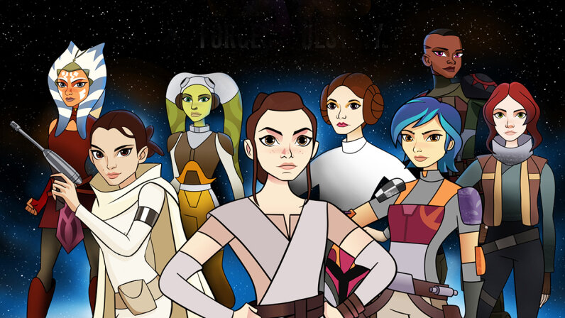 """The online-first series """"Star Wars Forces of Destiny"""" features short animated vignettes centered around the female characters of the iconic franchise. Lucasfilm"""
