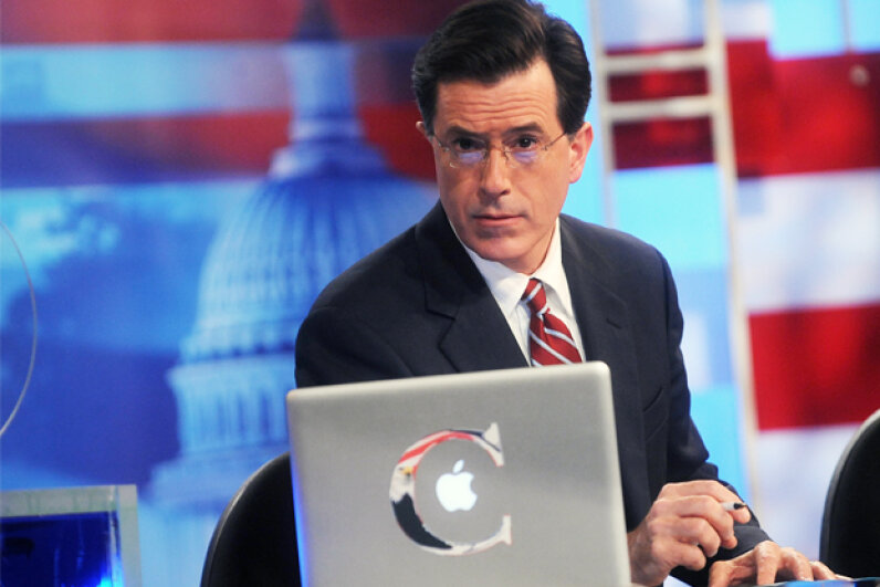 "Stephen Colbert launched his satirical show after appearing on ""The Daily Show"" for years. Brad Barket/Getty Images"