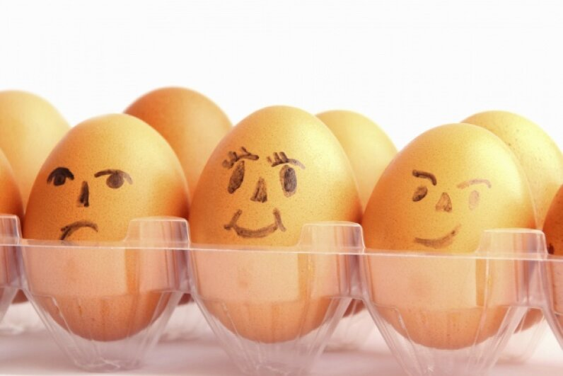 Eggs have been called the perfect protein. Are they or other protein sources responsible for you smelling like ammonia after you work out? TuelekZa/iStock/Thinkstock