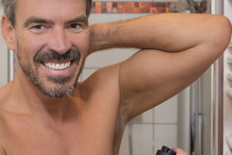 That guy actually seems pumped about his armpit. galaxy67/iStock/Thinkstock