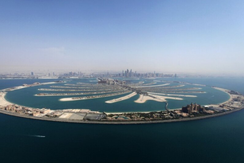 An aerial view of The Palm Jumeirah is seen in Dubai, in this photo from Aug. 31, 2012. © Jumana el Heloueh/Reuters/Corbis